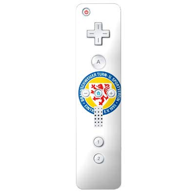 DeinDesign Skin kompatibel mit Nintendo Wii Controller Folie Sticker Offizielles Lizenzprodukt Eintracht Braunschweig Wappen