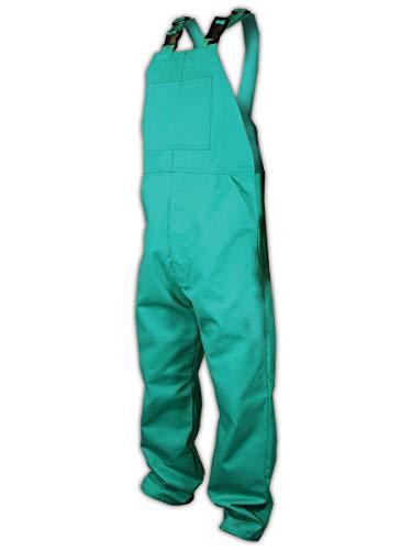 Magid Glove & Safety C81N586-M Magid Spark Guard Flame Resistant 12 oz. Cotton Bib Overalls, Medium, Green, Medium