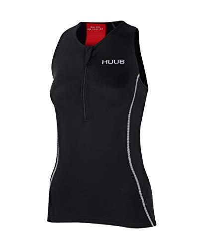Huub Tri Top Triathlon de Natation pour Femme Taille XS à XXL, Noir, L (Height 167-180 cm)