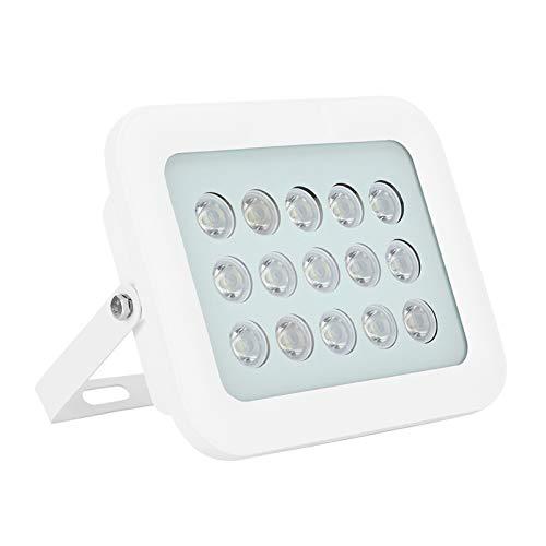 FILFEEL Luz de Relleno Blanca infrarroja DC12V, 15 lámparas Iluminadores IR IP66 a Prueba de Agua, cámara CCTV Luz de Relleno de visión Nocturna para cámara de Seguridad CCTV, ángulo de luz de 60 °