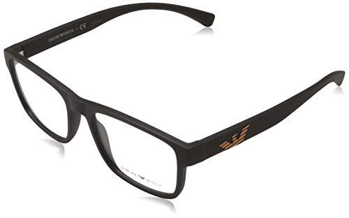 Emporio Armani 0EA3149 Monturas de gafas, Matte Brown, 53 para Hombre