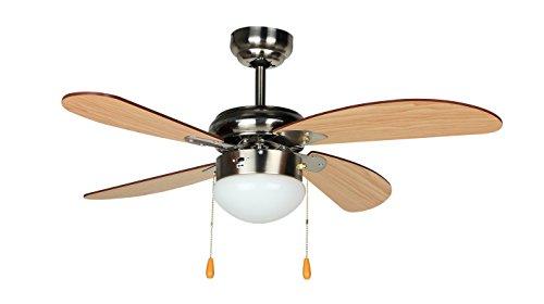 Orbegozo CP 70095 Ventilador de techo con luz, 4 palas, diámetro 95 cm, potencia de 55 W y 3 velocidades