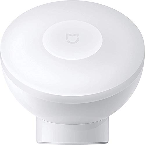 Bainuojia Para Xiaomi Mijia luz nocturna para inducción, luz nocturna de 2ª generación, 360 grados de rotación, brillo ajustable, sensor de movimiento por infrarrojos, con base magnética