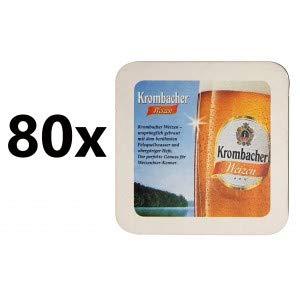 Krombacher Weizen Bierdeckel Untersetzer Unterlage Pappdeckel Bierfilz - 80er Packung