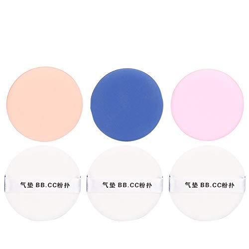 Yiwa Éponge de maquillage de base pour puff de poudre de coussin d'air hydrophile sans latex Mélange de couleurs en 3 pièces