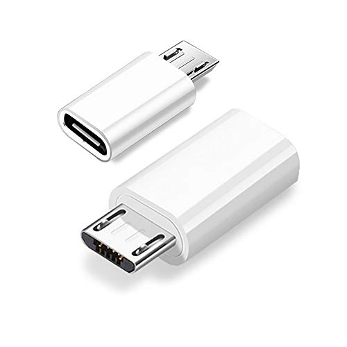 JBSTK USB-C auf Micro USB Adapter [ 3 Stücke ] USB Type C Female auf Micro USB Male Schellladung (Weiss)