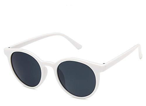 LUXIAOYU Korea Retro Runde Box Creme Mokka Braune Sonnenbrille Kleiner Rahmen Wild Net Rot Mit Dem gleichen Absatz Sonnenbrille Weibliches Wildes Gesicht Beste Geschenkwahl,White