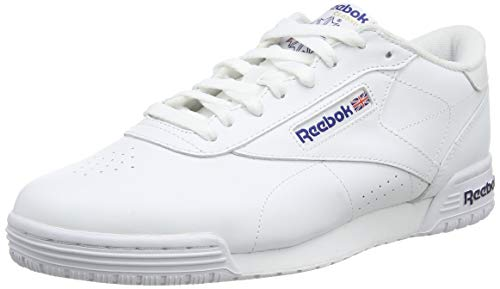 Reebok Ex-o-Fit Clean Logo Int, Zapatillas para Hombre, Blanco (AR3169_39 EU_White/Royal Blue/Royal Blue), 43