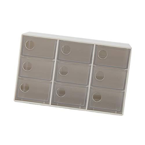 joyMerit Schreibtisch Organizer Make-Up Kasten Schmuckkoffer Desktop Schubladenbox - Weiß 9 Gitter
