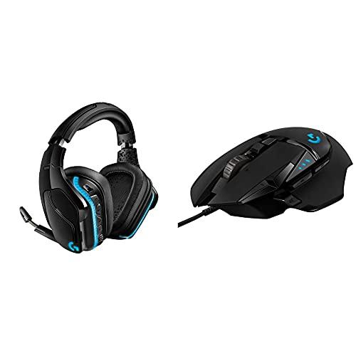 Logitech G935 Cuffie Gaming Rgb Wireless, Audio Surround 7.1, Cuffie Dts: X 2.0 & G502 Hero Mouse Gaming Prestazioni Elevate, Sensore Hero 25K, 25.600 Dpi