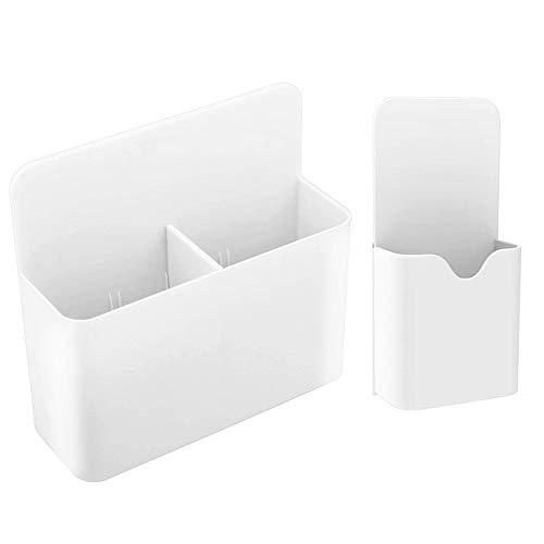 2 Stück Whiteboard Marker Magnetisch Halter, Magnetisch Marker Halter Stifthalter, 2 Größen Magnetisch Markerhalterung, für Whiteboards / Kühlschrank / Schulschließfach / Büro (weiß)
