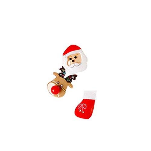 Demarkt Kerstmis brooch broche naald aansteker kerstcadeau sieraden van acryl Medium Zoals op de foto A