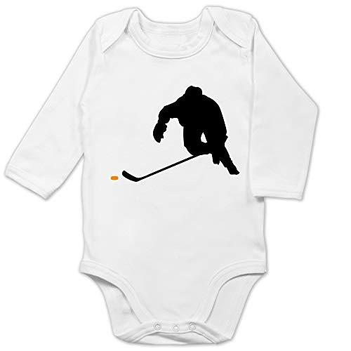 Sport Baby - Eishockey Sprint - 3/6 Monate - Weiß - Eishockey Body - BZ30 - Baby Body Langarm