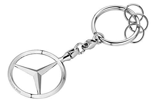 Mercedes-Benz Collection Schlüsselanhänger Brüssel | Schlüsselanhänger aus Zinkdruckguss mit Mehreren Minispaltringen