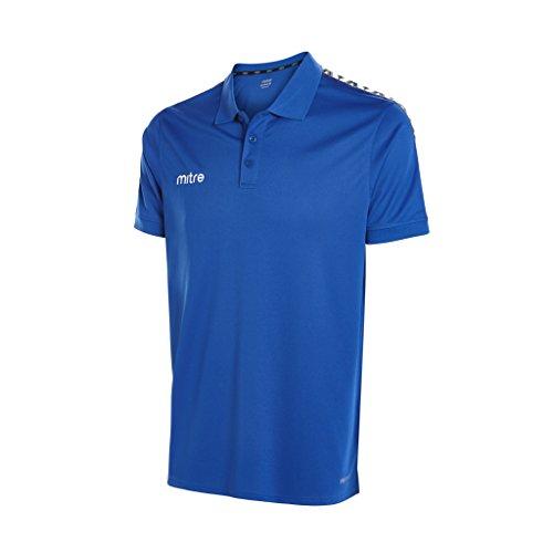 Mitre, Polo da Uomo Delta, Uomo, Delta Polo Shirt, Royal/White, L