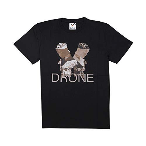 Woc Drone Tee T-Shirt Uomo TH 124 Dr Blk Nero (XS)