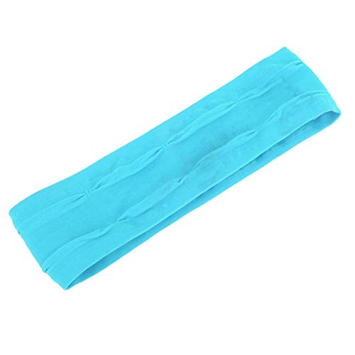 Kadimendium Gorra antitranspirante con Banda para el Sudor Tenis para Adultos(Sky Blue)