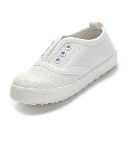 White Canvas Kids Shoes Wholesale