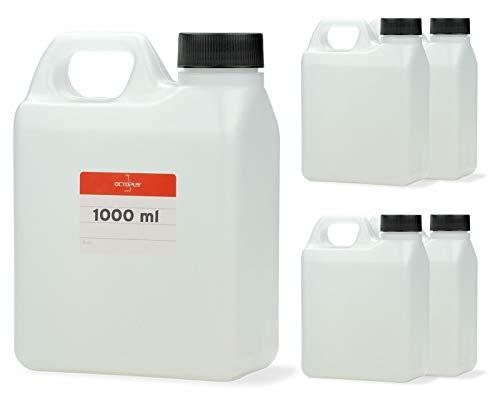 Octopus 5X 1000 ml Kanister, 1 Liter Wasserkanister Camping, Leere Plastikkanister für Lebensmittel, Öle oder Chemikalien, Kunststoffkanister aus HDPE-Kunststoff
