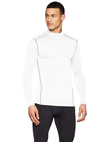 Under Armour Coldgear Armour Mock Camiseta De Manga Larga, Hombre, (White/Steel (100), M