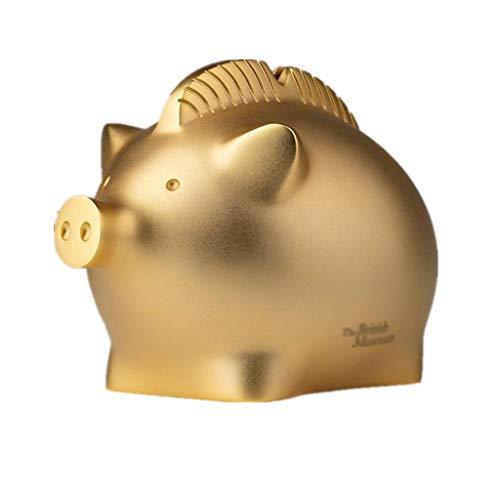 jbshop Cajas de Dinero Piggy Bank Lucky Golden Pig Coin Bank Capacidad Grande Capucha Hogar Decoración para niños Niñas Amigos...