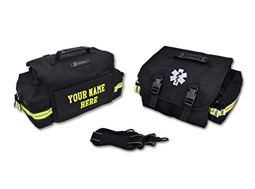 Lightning X Customizable Small Medic First Responder EMT Trauma Bag w/ Embroidered Name Patch - Black