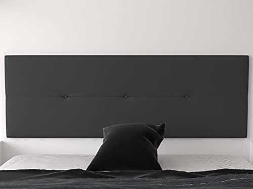 LA WEB DEL COLCHON - Cabecero tapizado Julie para Cama de 150 (160 x 55 cms) Gris Ceniza