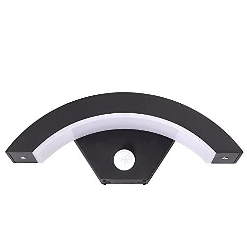 Aplique para Exterior con PIR Sensor de Movimiento LED 18W 220V 6000K Lámpara de Pared para Exterior Luz Blanca IP65 Luz de Pared para Interior para Jardín Patio Balcón Pasillo Dormitorio