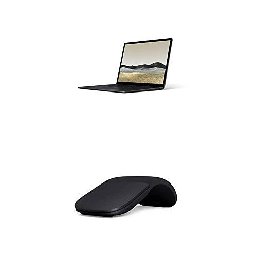 Microsoft Surface Laptop 3, 15 Zoll Laptop (AMD Ryzen 5 3580U, 8GB RAM, 256GB SSD, Win 10 Home) Schwarz + Arc Mouse Schwarz