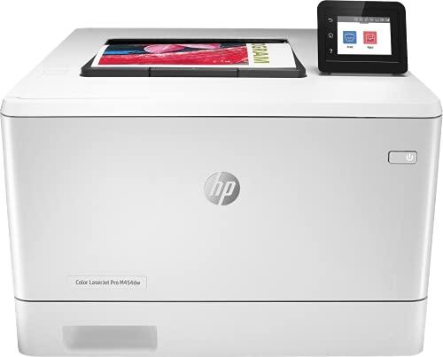 HP Color LaserJet Pro M454dw W1Y45A, Impresora Láser Color Monofunción, Impresión a Doble Cara Automática, Wi-Fi, Ethernet, USB 2.0, 1 Host USB, HP Smart App, Pantalla Táctil en Color, Blanca