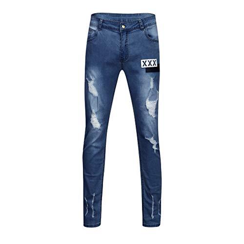 SoonerQuicker Jeans Slim Fit Skinny Unten nauwsluitende broek, comfortabele pasvorm, elegant, elastisch, met gaten, voor heren, vrijetijdsbroek, stretch, regular outdoor, ademend