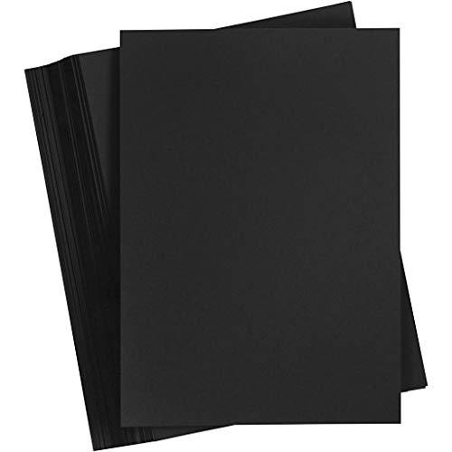 Cartulina, A5, 14,8 x 21 cm, negro, 100 hojas