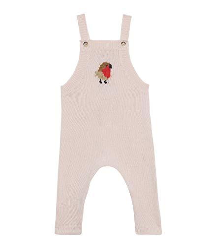 Petit Bateau Salopette Longue_4966802 Pantalones de Peto, Rosa (Fleur 02), 95 (Talla del Fabricante: 12M/74centimeters) para Bebés