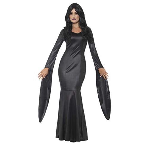 SMIFFYS Costume vampira immortale, Nero, con vestito effetto lucido