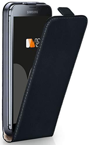 OneFlow Tasche für Samsung Galaxy S5 Mini Hülle Cover mit Magnet | Flip Case Etui Handyhülle zum Aufklappen | Handytasche Handy Schutz Bumper Schutzhülle mit Schale in Schwarz