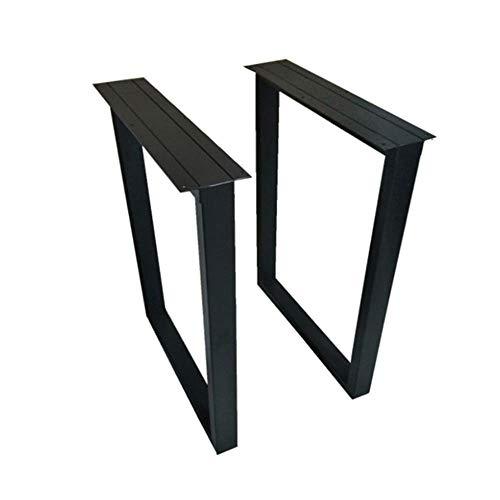 YXB 2er Pack Anpassbarer schwarzer Eisentisch Fußtischständer Esstisch Fußeisenrahmen Großer Brett Tisch Couchtisch Tischfüße Schreibtischbeinständer