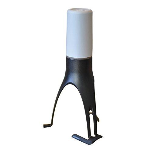 Uutensil StirrTime, Automatic Pan Stirrer with Timer (New Design), Light Gray & Gray