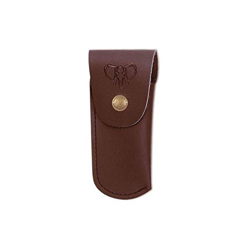 Electropolis Funda para Navaja Cudeman 635-C, Material Cuero marrón, Largo máximo 9 cm, Cierre Broche