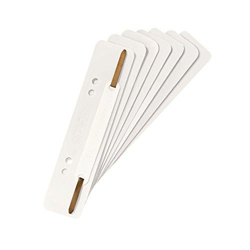 Herlitz 10839199 Heftstreifen PP, 3,4 x 15 cm, 25 Stück, weiß