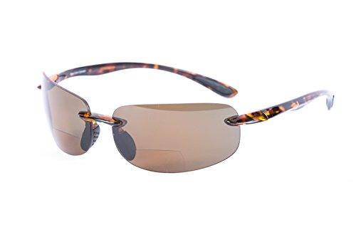 """Lovin Maui"" Polarized Bifocal Sunglasses - Lightweight Outdoor Reading Glasses for Men and Women (Tortoise, 1.75)"