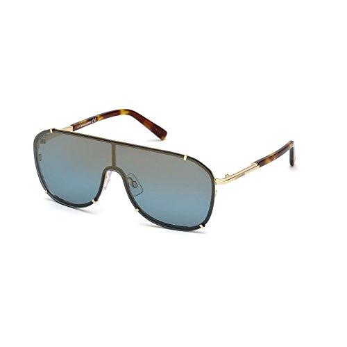 DSQUARED2 DQ0291 32X 00 Monturas de gafas, Dorado (OroBlu Specchiato), 0.0 Unisex Adulto