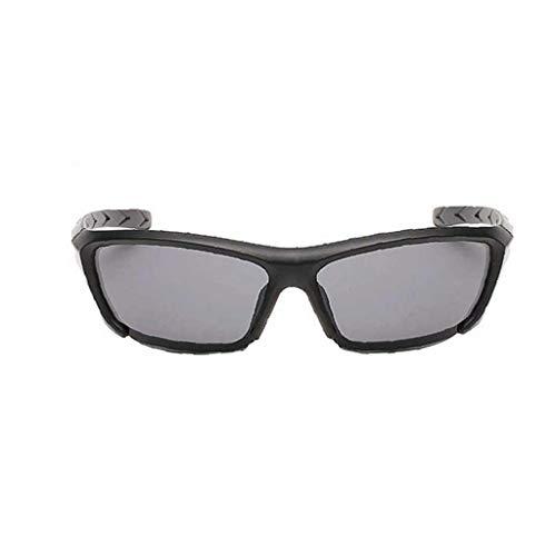 KHHGTYFYTFTY Moda al Aire Libre Gafas de Sol polarizadas UV400 de la película de Color Gris con los vidrios de la Lente para Hombres y Mujeres