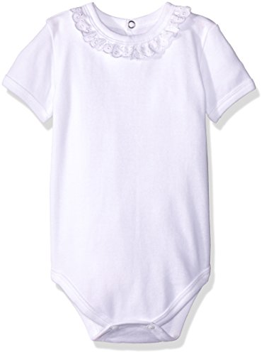 Baby Creysi Body para Bebé, color Blanco, 3 Meses