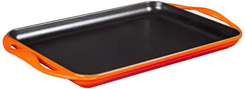 Le Creuset Enameled Cast Iron Rectangular Skinny Griddle, 13