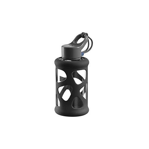 Leonardo 029243 In Giro Gourde à emporter en verre borosilicate avec étui de protection Passe au lave-vaisselle Anthracite 700 ml