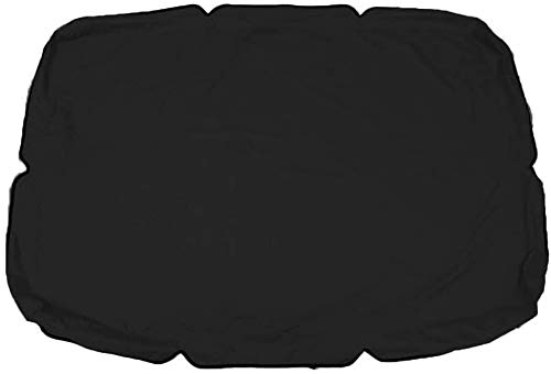 Zwenkafdekking, Tuin Waterdicht Outdoor Furniture Dust Cover Balkon Zonnescherm Heavy Duty Rip Proof 600D Oxford Fabric (Color : Black, Size : Two seat 142 * 120 * 18cm)