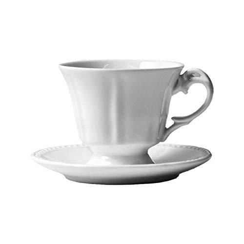 YQYW Home Porzellan Teeservice Keramik Einzelprodukt Kaffeetasse und Untertasse Set Italienische konzentrierte europäische Teetasse Amerikanische Retro-Espressotasse aus Keramik
