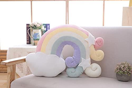 YZGSBBX Schöne Plüsch Sun Kissen Schlafende Regenbogen Kissen Cot Dekor Weiche Plüsch Geburtstagsgeschenk Für Kinder Weihnachten Geschenk Spielzeug Plüschspielzeug