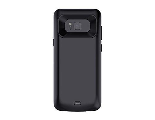 L'ultima Cover Protettiva per Caricabatterie Galaxy S8, Custodia per Batteria Portatile da 5000 mAh, Power Bank Mobile, per Samsung Galaxy S8 (5,8 pollici Nero)