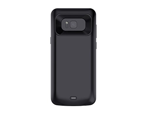Funda con cargador para Galaxy S8 de protección integral de 5000 mAh externa portátil con batería de respaldo delgado y recargable, cargador para Samsung Galaxy S8 (5.8 pulgadas, negro)